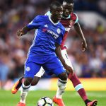 Chelsea's N'Golo Kante shields the ball from West Ham's Cheikhou Kouyate. (Getty Images)