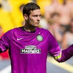Celtic goalkeeper Craig Gordon in action. (Getty Images)