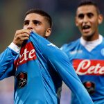 Napoli forward Lorenzo Insigne celebrates after scoring. (Getty Images)