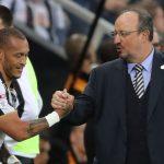 Rafael Benitez and Gouffran of Newcastle