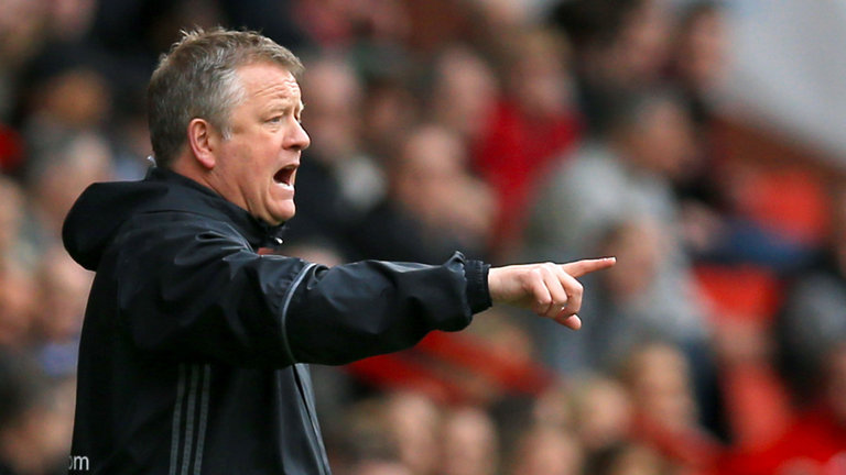 Sheffield United manager Chris Wilder on the touchline. (Getty Images)