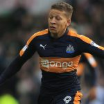 Newcastle striker Dwight Gayle in action. (Getty Images)