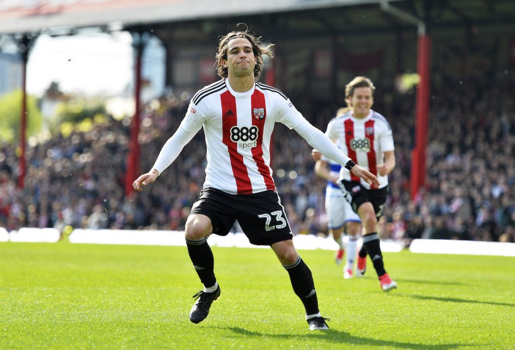 Jota during his time with Brentford. (Getty Images)