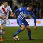 Sander Berge protects the ball from his opponent. (Getty Images)