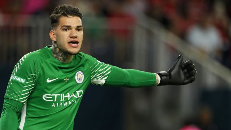 Ederson makes the ManCity predicted starting XI to take on Crystal Palace in the Premier League.