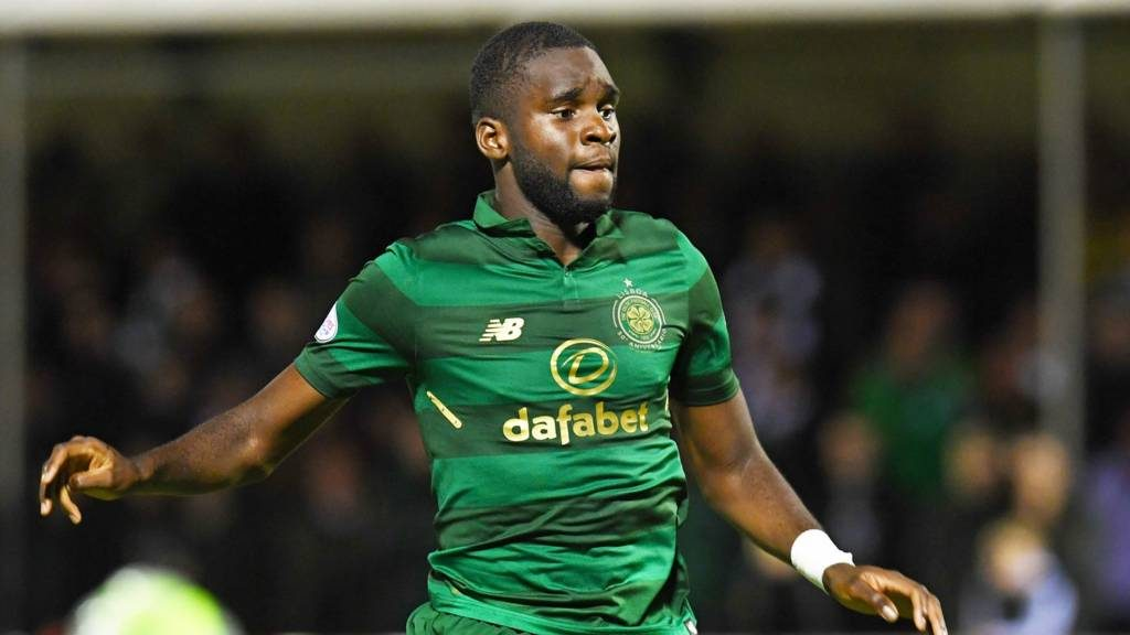 Celtic striker Odsonne Edouard in action. (Getty Images)