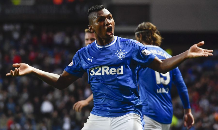Alfredo Morelos is arguably the best striker in the Scottish Premiership. (Getty Images)
