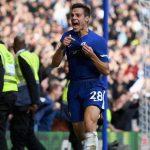 Chelsea skipper Cesar Azpilicueta celebrates after scoring. (Getty Images)