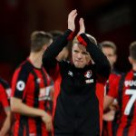 Eddie Howe applauds the fans after the game. (Getty Images)