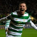Callum McGregor celebrates after scoring a goal for Celtic. (Getty Images)