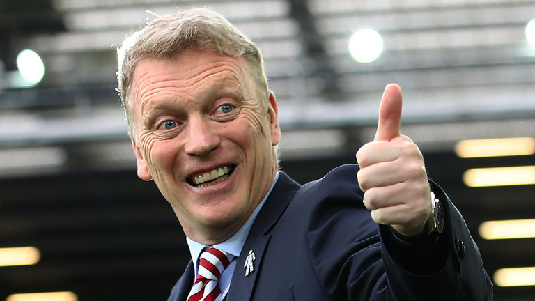 West Ham manager David Moyes all smiles. (Getty Images)