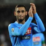 Faouzi Ghoulam applauds the Napoli fans. (Getty Images)