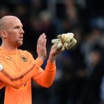 Wolves goalkeeper John Ruddy applauds the fans. (Getty Images)