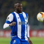 FC Porto striker Moussa Marega controls the ball. (Getty Images)