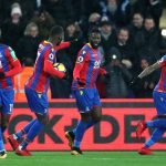 Crystal Palace players celebrate after scoring. (Getty Images)
