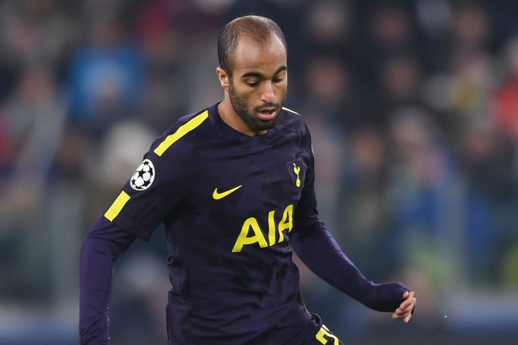 Tottenham winger Lucas Moura in action during a Champions League game. (GETTY Images)