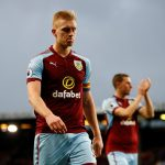 Burnley centre-back Ben Mee walks off the pitch. (Getty Images)