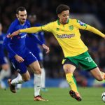 Norwich City left-back Jamal Lewis in action against Chelsea. (Getty Images)