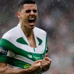 Celtic midfielder Tom Rogic celebrates after scoring. (Getty Images)