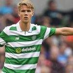 Kristoffer Ajer in action for Celtic. (Getty Images)