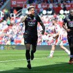 Crystal Palace left-back Patrick van Aanholt celebrates after scoring. (Getty Images)