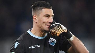 Thomas Strakosha in action for Lazio. (Getty Images)