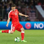 Fabian Schar in action for Switzerland. (Getty Images)