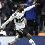 Fulham midfielder Jean Michael Seri celebrates after scoring. (Getty Images)