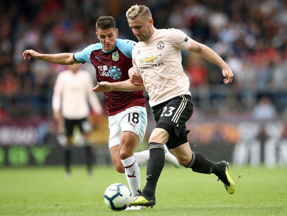 Luke Shaw in action against Burnley (Getty Images)