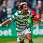 Celtic winger Scott Sinclair celebrates after scoring. (Getty Images)