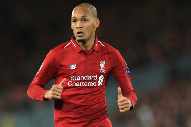 Liverpool midfielder Fabinho in action. (Getty Images)