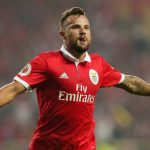 Benfica striker Haris Seferovic celebrates after scoring. (Getty Images)