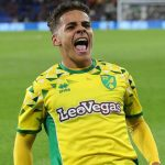 Max Aarons celebrates after scoring for Norwich City. (Getty Images)