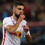 Moanes Dabour celebrates after scoring for Red Bull Salzburg. (Getty Images)