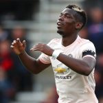 Manchester United midfielder Paul Pogba reacts against Watford. (Getty Images)