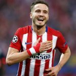 Atletico Madrid midfielder Saul Niguez celebrates after scoring. (Getty Images)