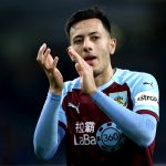 Burnley winger Dwight McNeil applauds the fans. (Getty Images)