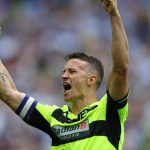 Huddersfield Town's Jonathan Hogg celebrating a goal. (Getty Images)
