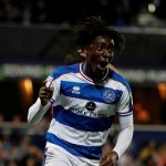QPR midfielder Eberechi Eze celebrates after scoring. (Getty Images)