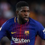 Barcelona defender Samuel Umtiti in action. (Getty Images)