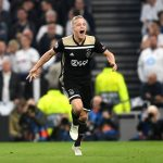 Donny van de Beek of Ajax celebrates as he scores his team's first goal during the UEFA Champions League Semi Final first leg match between Tottenham Hotspur and Ajax at at the Tottenham Hotspur Stadium on April 30, 2019 in London, England. (Getty Images)