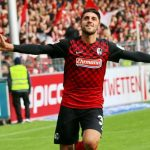 Freiburg winger Vincenzo Grifo celebrates after scoring. (Getty Images)