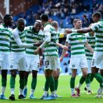 Celtic team celebrating a goal. (Getty Images)