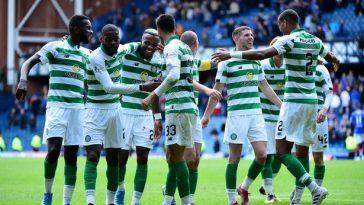 Celtic team celebrating a goal. (Getty Images)