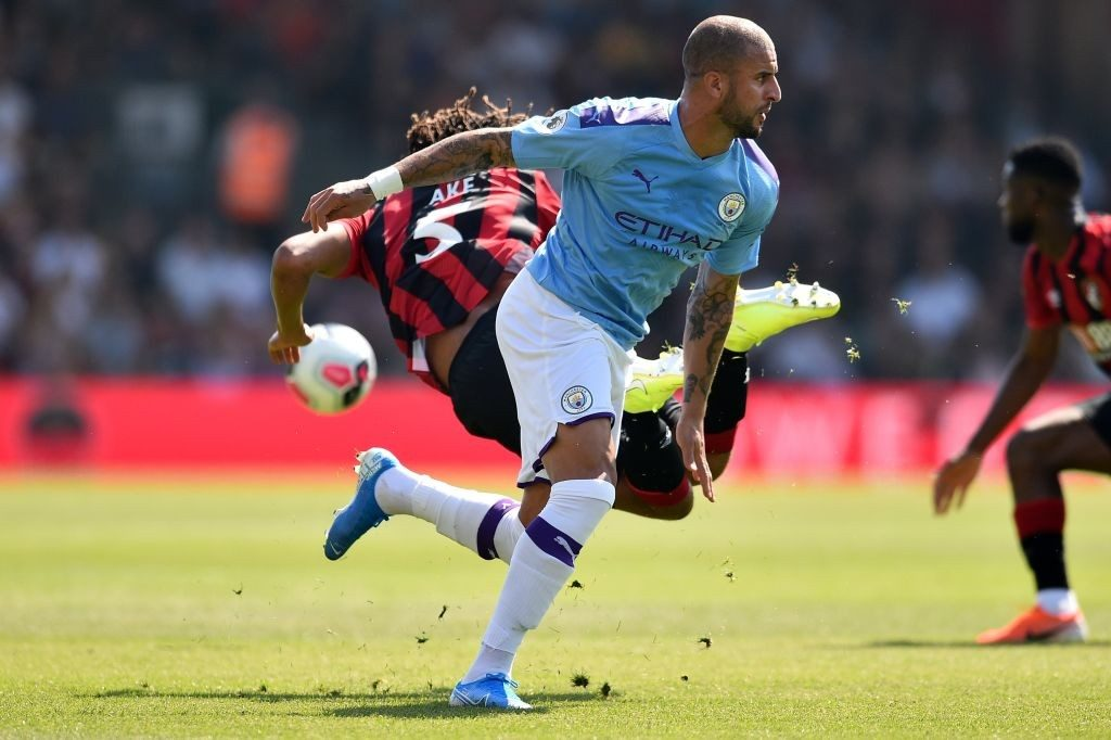 Kyle Walker in action for Manchester City. (GETTY Images)
