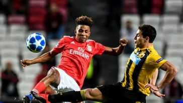 Benfica midfielder Gedson Fernandes in action. (Getty Images)