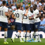 Tottenham players celebrate after scoring. (Getty Images)