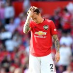 Manchester United defender Victor Lindelof looks dejected. (Getty Images)