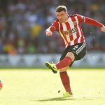Sheffield United midfielder John Fleck shoots the ball. (Getty Images)