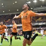 Wolves striker Raul Jimenez celebrates after scoring the equaliser against Southampton. (Getty Images)